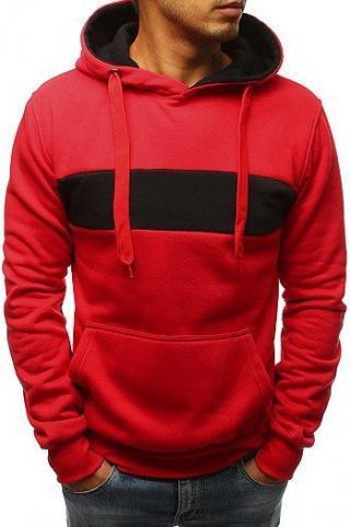 Red mens hoodie BX3659 pánské Neurčeno XL