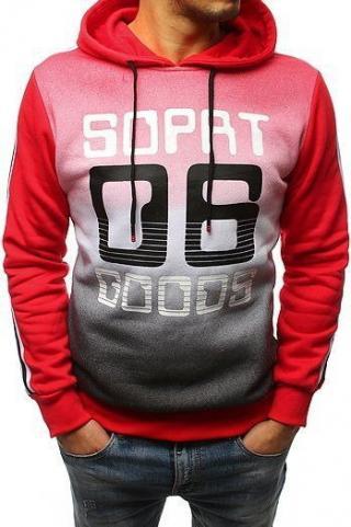 Red mens hoodie BX3716 pánské Neurčeno M