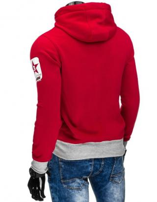 Red mens hoodie BX4378 pánské Neurčeno XXL