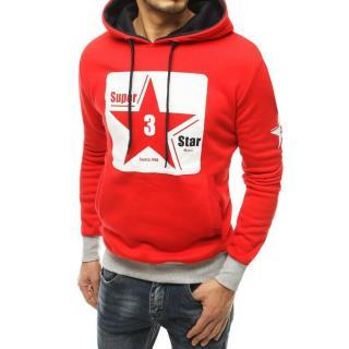 Red mens hoodie BX4871 pánské Neurčeno M