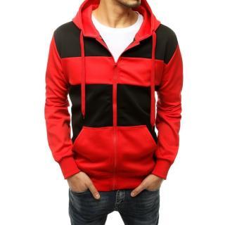Red mens zipped hoodie BX4849 pánské Neurčeno M