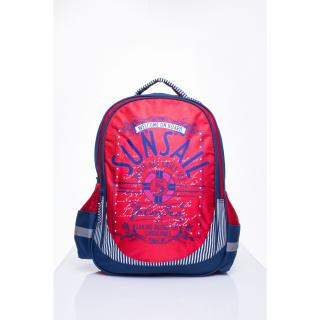 Red school backpack with a sailing theme Neurčeno One size