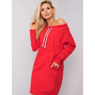 Red sweatshirt dress dámské Neurčeno S