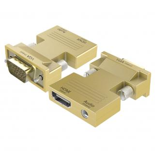 Redukce HDMI na VGA 1080P - Zlatá