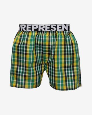 Represent MIKE 20214 Trenýrky Zelená Žlutá pánské S