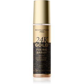 Revolution PRO 24k Gold rozjasňující fixační sprej se zlatem 100 ml dámské 100 ml