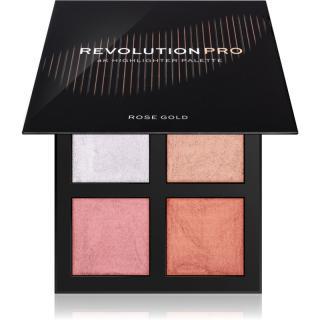 Revolution PRO 4K Highlighter Palette paleta rozjasňovačů odstín Rose Gold 4 x 4 g dámské 4 x 4 g