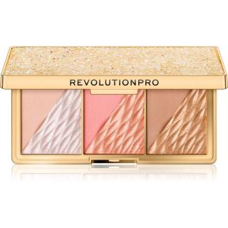 Revolution PRO Crystal Luxe paletka pro celou tvář odstín Peach Royale 8,4 g dámské 8,4 g