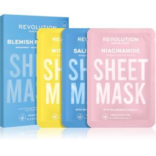 Revolution Skincare Biodegradable Blemish Prone Skin sada plátýnkových masek  dámské