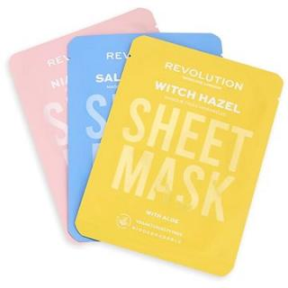 REVOLUTION SKINCARE Biodegradable Blemish Prone Skin Sheet Mask Set 3 ks