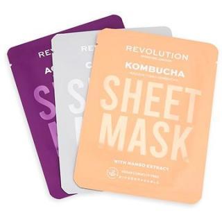 REVOLUTION SKINCARE Biodegradable Combination Skin Sheet Mask Set 3 ks
