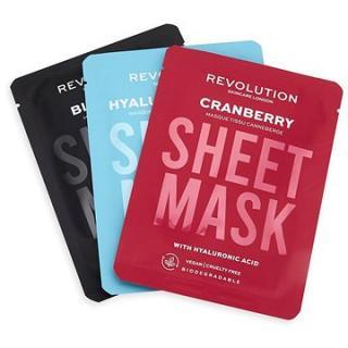 REVOLUTION SKINCARE Biodegradable Dehydrated Skin Sheet Mask Set 3 ks