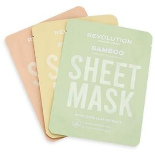 REVOLUTION SKINCARE Biodegradable Dry Skin Sheet Mask Set 3 ks