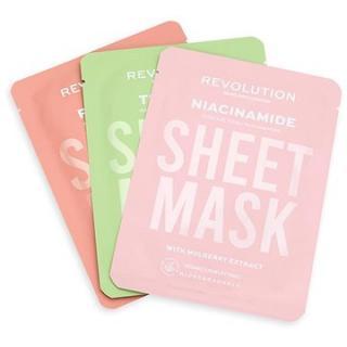 REVOLUTION SKINCARE Biodegradable Oily Skin Sheet Mask Set 3 ks