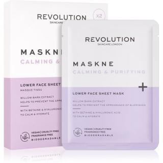Revolution Skincare Maskcare Maskne Calming & Purifying hloubkově regenerační maska pro citlivou a podrážděnou pleť 2 ks dámské 2 ks