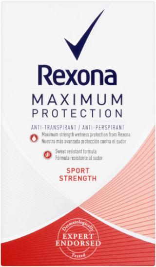 REXONA Deo Stick MaxPro Sport Strenght Antiperspirant 45 ml červená