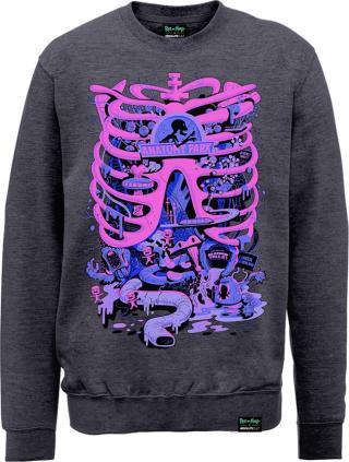 Rick And Morty X Absolute Cult Anatomy Park Crew Neck Sweater L pánské Dark Grey L