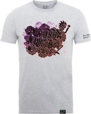 Rick And Morty X Absolute Cult Wubba Lubba Heather Grey T-Shirt M pánské M