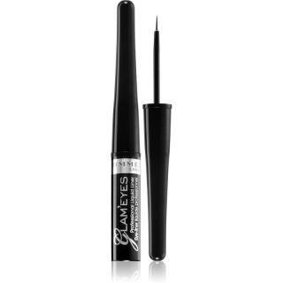 Rimmel Glam´ Eyes Professional tekuté oční linky odstín 001 Black Glamour 3,5 ml dámské 3,5 ml