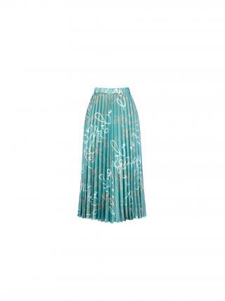Rinascimento mentolová plisovaná sukně dámské zelená XS