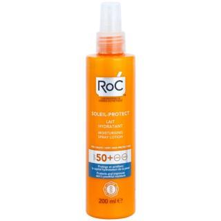 RoC Soleil Protect ochranné hydratační mléko ve spreji SPF 50  200 ml dámské 200 ml