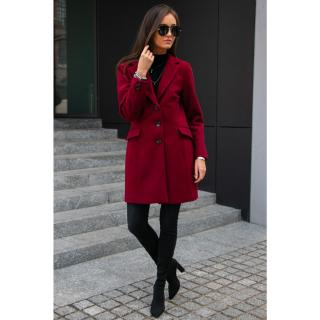 Roco Womans Coat PLA0012 Crimson dámské Red 36