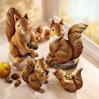 Rodina veverkova, 4 dílná sada
