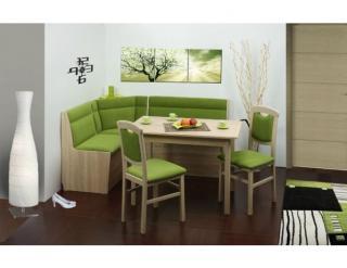 Rohová jídelní lavice Bigbox, dub sonoma/žinylka
