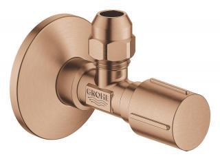 Rohový ventil Grohe 1/2x3/8 s krytkou kartáčovaný Warm Sunset 22039DL0