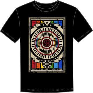 Roland JUPITER-8 Hudební tričko Black 2XL