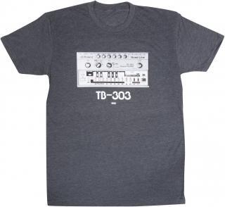 Roland TB-303 Crew T-Shirt Charcoal XXL Grey 2XL
