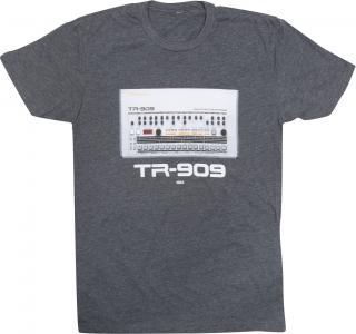 Roland TR-909 Crew T-Shirt Charcoal XXL Grey 2XL