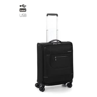 Roncato Sidetrack, 55 cm, 4 kolečka, USB, černá