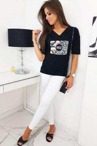 ROSE womens blouse black RY1329 dámské Neurčeno S