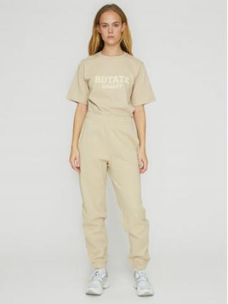 ROTATE Teplákové kalhoty Mimi RT470 Béžová Loose Fit dámské XS