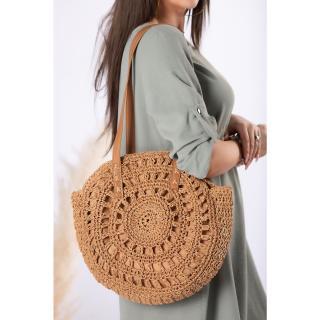 round handbag made of braided string dámské Other One size