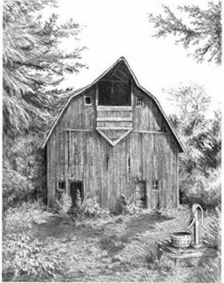Royal & Langnickel Kreslení podle předlohy A4 Dřevěná stodola