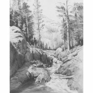 Royal & Langnickel Kreslení podle předlohy A4 Horský potok