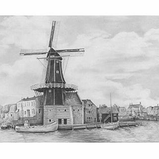 Royal & Langnickel Kreslení podle předlohy A4 Větrný mlýn