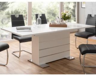 Rozkládací jídelní stůl Manto 160x90 cm, bílý Bílá