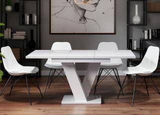 Rozkládací jídelní stůl Master, bílý mat