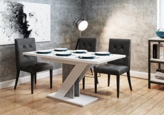 Rozkládací jídelní stůl Merida, bílý lesk