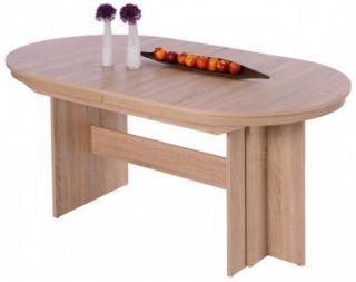 Rozkládací jídelní stůl Romy 160x90 cm, dub sonoma