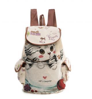 Roztomilý dámský batoh s kočkou Varianta: 1