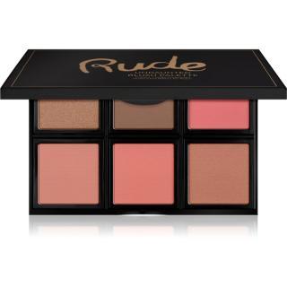 Rude Cosmetics Face Palette Undaunted konturovací paletka tvářenek 18 g dámské 18 g