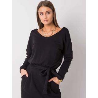RUE PARIS Black sweatshirt dress dámské Neurčeno S