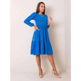 RUE PARIS Blue cotton dress dámské Neurčeno S