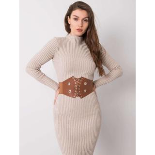 RUE PARIS Brown corset belt dámské Neurčeno One size