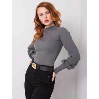 RUE PARIS Dark gray cotton blouse dámské Neurčeno S