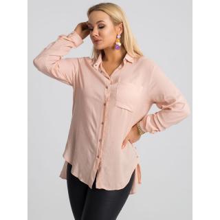 RUE PARIS Light pink plus size shirt dámské Neurčeno 52